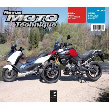 Revue Moto Technique RMT 181 HONDA FORZA 125 (2015 à 2016) + SUZUKI V-Strom 1000 (2014 à 2016)