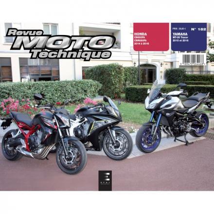 Revue Moto Technique RMT 182 YAMAHA MT-09 TRACER 900 (2015 à 2016) et HONDA CBR 650 FAE (2011 à 2014)