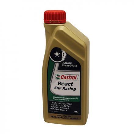 150336 LIQUIDE DE FREIN CASTROL REACT SRF RACING (1 L) 100% SYNTHETIQUE COMPETITION -PRIX NET- Lubrifiants et nettoyants |
