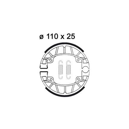 Mâchoire de freins AP RACING LMS909 O 110 x 25
