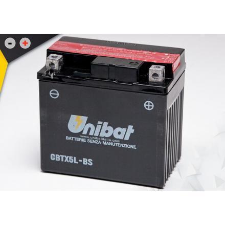 UCBTX5L-BS Batterie Unibat CBTX5L-BS - Livrée avec flacons d'acide séparé. Batteries UNIBAT | Fp-moto.com garage moto albi ate