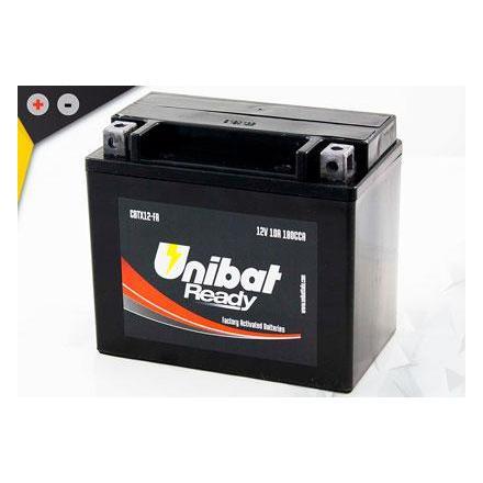 UCBTX12-FA Batterie Unibat CBTX12-FA - Scellés en Usine. (YTX12-BS / YTX12BS / BTX12 / FBTX12 / CBTX12BS / 12BS / UCX12) LxlxH :