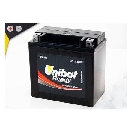 UCBTX14-FA Batterie Unibat CBTX14-FA - Scellés en Usine. (YTX14-BS / YTX14BS / BTX14 / FBTX14 / CBTX14BS / 14BS / UCX14) LxlxH :