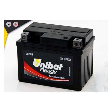 UCBTX4L-FA Batterie Unibat CBTX4L-FA - Scellés en Usine. (BT4L-BS / BT4LBS / FTX4LBS / CBTX4LBS / 4LBS / YTX4LBS) LxlxH : 114x71