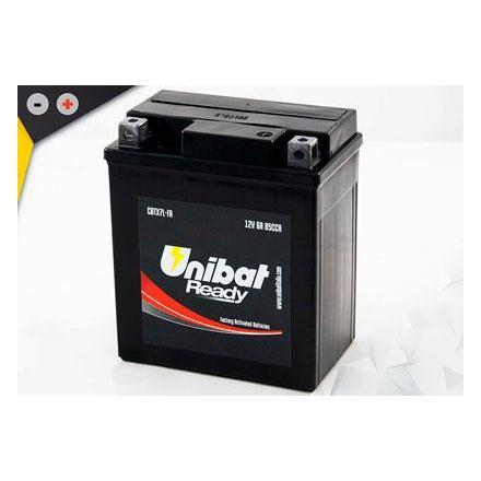 UCBTX7L-FA Batterie Unibat CBTX7L-FA - Scellés en Usine. (YTX7L-BS / YTX7LBS / BTX7L / FBTX7L / CBTX7LBS / 7LBS) LxlxH : 114x71x