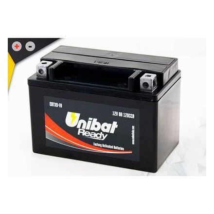 UCBTX9-FA Batterie UNibat CBTX9-FA - Scellés en Usine. (YTX9-BS / YTX9BS / BTX9 / FBTX9BS / CBTX9BS / 9BS / UCX9) LxlxH : 150x87