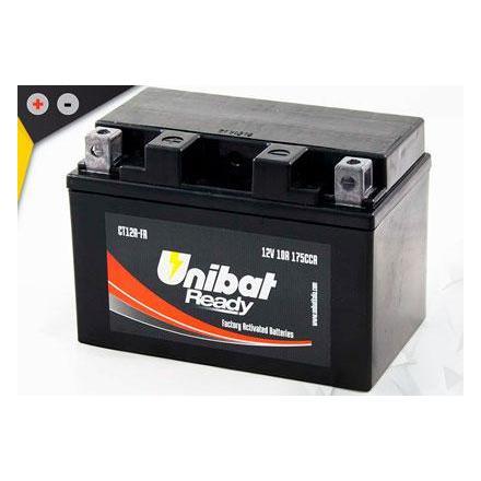 UCT12A-FA Batterie Unibat CT12A-FA - Scellés en Usine. (YT12A-BS / YT12ABS / BT12A / FT12A / CT12ABS / 12ABS) LxlxH : 150x87x105