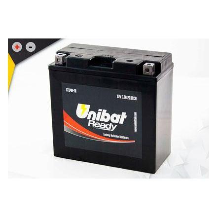 UCT14B-FA Batterie Unibat CT14B-FA - Scellés en Usine. (YT14B-BS / YT14BBS / BT14B-4 / BT14B4 / CT14B4 / 14B4) LxlxH : 152x70x14