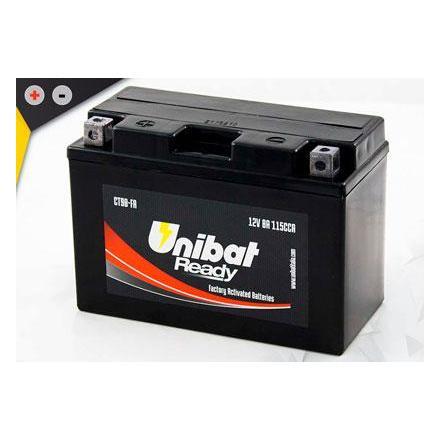 UCT9B-FA Batterie Unibat CT9B-FA - Scellés en Usine. (YT9B-BS / YT9BBS / BT9B-4 / BT9B4 / CT9B4 / 9B4) LxlxH : 150x70x105 [ +