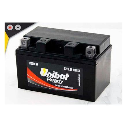 UCTZ10S-FA Batterie Unibat CTZ10S-FA - Scellés en Usine. (YTZ10S / BTZ10S / FTZ10S / CTZ10S / 10S) LxlxH : 150x87x93 [ + - ] 1