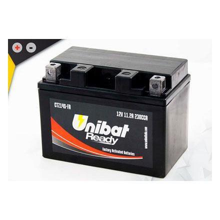 UCTZ14S-FA Batterie Unibat CTZ14S-FA - Scellés en Usine. (YTZ14S / BTZ14S / FTZ14S / CTZ14S / 14S) LxlxH : 150x87x110 [ + - ]