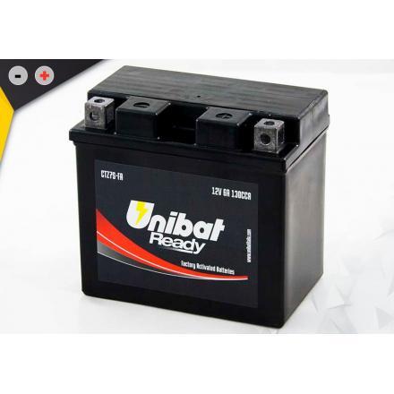 UCTZ7S-FA Batterie Unibat CTZ7S-FA - Scellés en Usine. (YTZ7S / BTZ7S / FTZ7S / CTZ7S / 7S) LxlxH : 113x70x105 [ - + ] 12V/6Ah