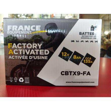 CBTX9-FA Batterie FE YTX9 SLA (YTX9-BS / YTX9BS / BTX9 / FBTX9BS / 9BS / UCX9) Batterie Factory Activated LxlxH : 150x85x105 [ +