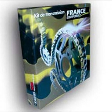 30401.034 Kit chaine FE YAMAHA RD.50 '77 11X41 HR ACIER Hyper Renforcée RK420MS FRANCE EQUIPEMENT Kit Chaine