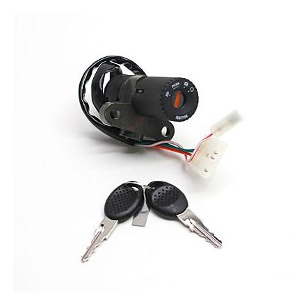 Contacteur à clé 50 à Boite Adapt. Peugeot 50 Xr6 2000>-Gilera 50 Smt 2007>, Rcr 2007> (Seul) -Selection P2R-