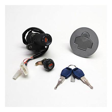 Contacteur à clé 50 à Boite Adapt. Rieju 50 Rs2 Matrix 2006>-Peugeot Xr6 (Avec Serrure De Selle + Bouchon Essence) -Selection