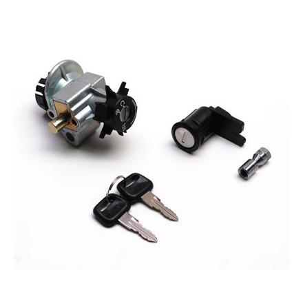 Contacteur à clé Scoot adapt.Peugeot 50 Speedfight 1, Trekker (Avec Serrure De Selle) -Qualite Premium-