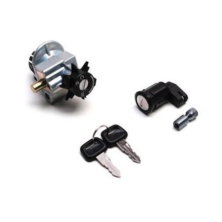 Contacteur à clé Scoot adapt.Peugeot 50 Speedfight 2, Tkr 2004>, Vivacity (Avec Serrure De Selle) -Qualite Premium-