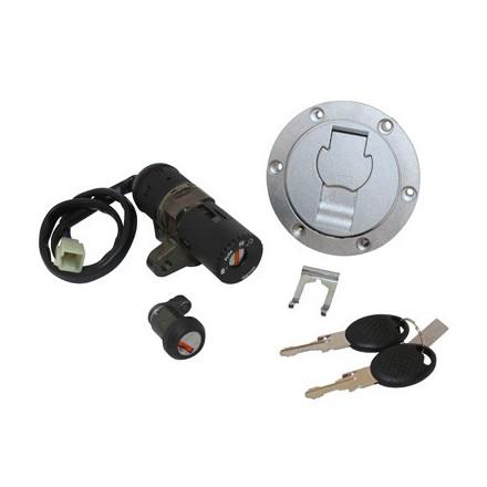 Contacteur à clé 50 à Boite Adapt. Mbk 50 X-Power 2003>-Yamaha 50 Tzr 2003> (Avec Serrure De Selle + Bouchon Essence) -Selecti