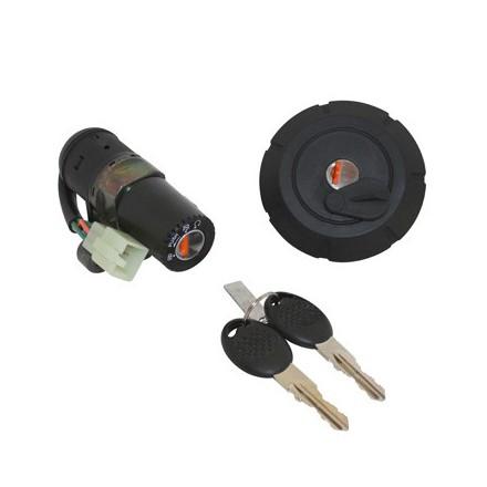 Contacteur à clé 50 à Boite Adapt. Mbk 50 X-Limit-Yamaha 50 Dtr (Avec Bouchon D'Essence) -Selection P2R-