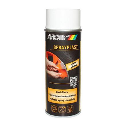 Bombe de peinture Motip Sprayplast Blanc Brillant (spray 400ml)