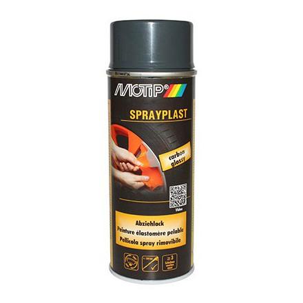 Bombe de peinture Motip Sprayplast Carbone Brillant (spray 400ml)