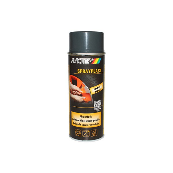 bombe de peinture motip sprayplast carbone brillant spray 400ml fp moto. Black Bedroom Furniture Sets. Home Design Ideas