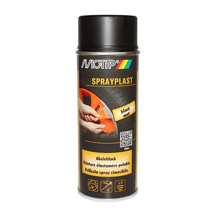 Bombe de peinture Motip Sprayplast Noir Mat (spray 400ml)