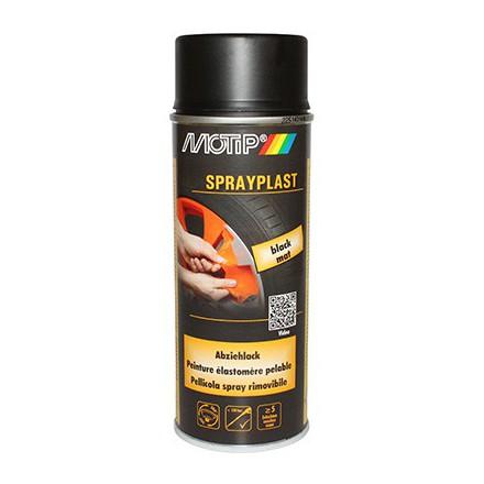 bombe de peinture motip sprayplast noir mat spray 400ml. Black Bedroom Furniture Sets. Home Design Ideas