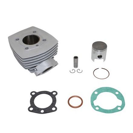 Cylindre Cyclo adaptable Peugeot 103 Air (6 Transferts, Bride+Ecrou) -Alu Nikasil P2R-