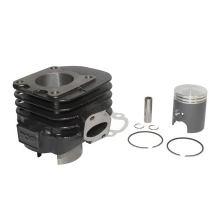 Cylindre Scoot Top Perf Fonte pour MBK 50 Ovetto 2T, Mach G-Yamaha 50 Neos 2T, Jog-Aprilia 50 Sr-Malaguti 50 F10 (Black Trophy)