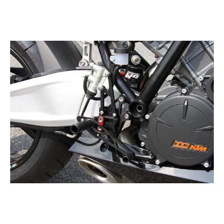 Commandes reculées multi-position LSL pour KTM RC8 2008-10