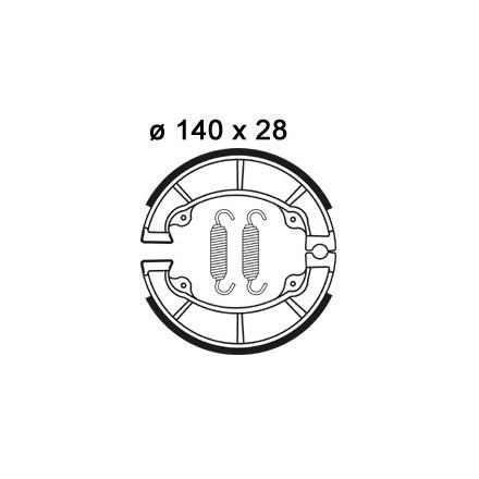 Mâchoire de freins AP RACING LMS830 O 140 x 28