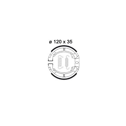 Mâchoire de freins AP RACING LMS846 O 120 x 35