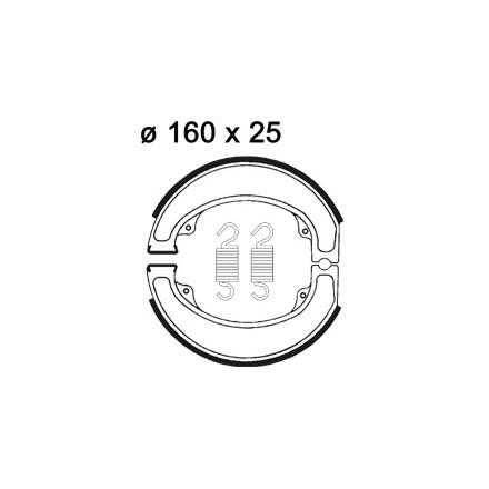 Mâchoire de freins AP RACING LMS861 O 160 x 25