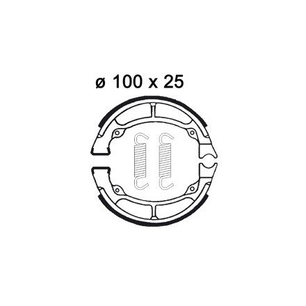 Mâchoire de freins AP RACING LMS873 O 100 x 25