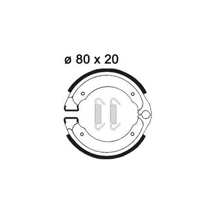 Mâchoire de freins AP RACING LMS877 O 80 x 20