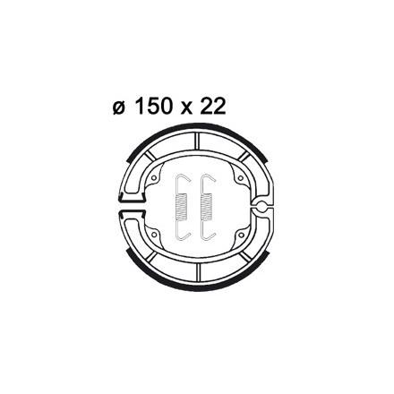 Mâchoire de freins AP RACING LMS881 O 150 x 22