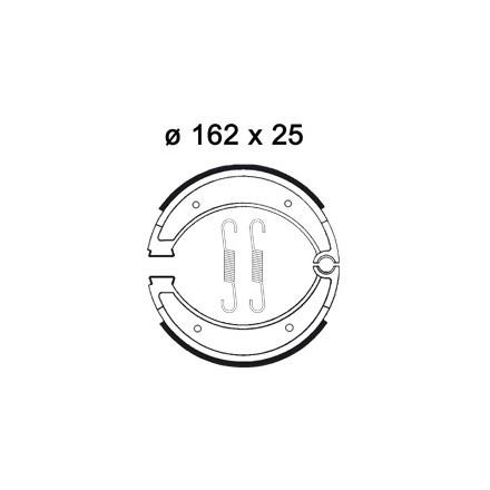 Mâchoire de freins AP RACING LMS889 O 162 x 25