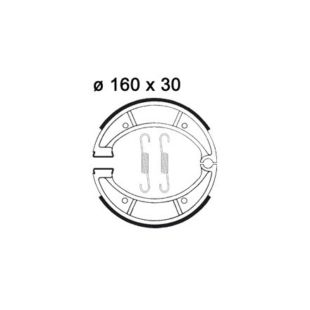 Mâchoire de freins AP RACING LMS890 O 160 x 30