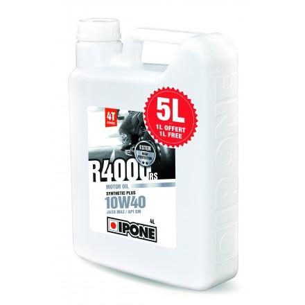 Huile Ipone R4000RS 4 Temps 10W40 (4 litres + 1 litre OFFERT)
