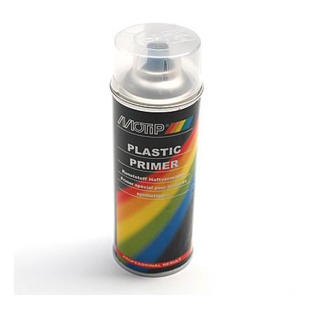 APPRET PEINTURE MOTIP PRIMER PRO SPECIAL PLASTIQUE TRANSPARENT (AEROSOL-BOMBE 400 ml) (04063)