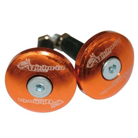 Embout guidon plat XL Victoria D.12 Orange