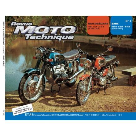 Revue Moto Technique RMT  06   MOTOBECANE 125 - BMW R 50/5-R 60/5-R 75/5