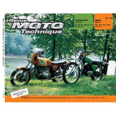 Revue Moto Technique RMT 18 KAWASAKI 125 KS A KH - BMW R 60/6 A R 90/6
