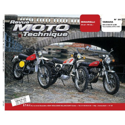 Revue Moto Technique RMT 29 MINARELLI P 6 CS / YAMAHA 400-500 XT ET SR
