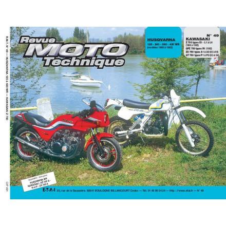 Revue Moto Technique RMT  49   HUSQVARNA 125-240-390-430WR/KAWA Z-GPZ 750