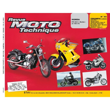 Revue Moto Technique RMT  93.2 HONDA VT 600/TRIUMPH 750-900