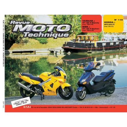 Revue Moto Technique RMT 115.2 YAMAHA YP 125R MBK YP 125R HONDA VFR 800FI