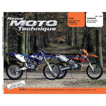 Revue Moto Technique RMT 117.1 KTM 250/300 YAMAHA WR 400